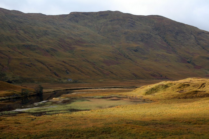 That little cottage is called a bothy, the Highlands have them dotted about the place for walkers to stop at for shelter