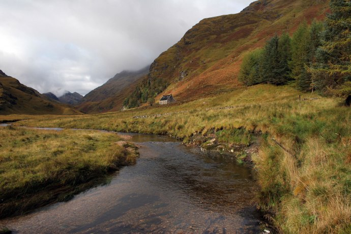 In the Highlands you can go for a walk on the glens