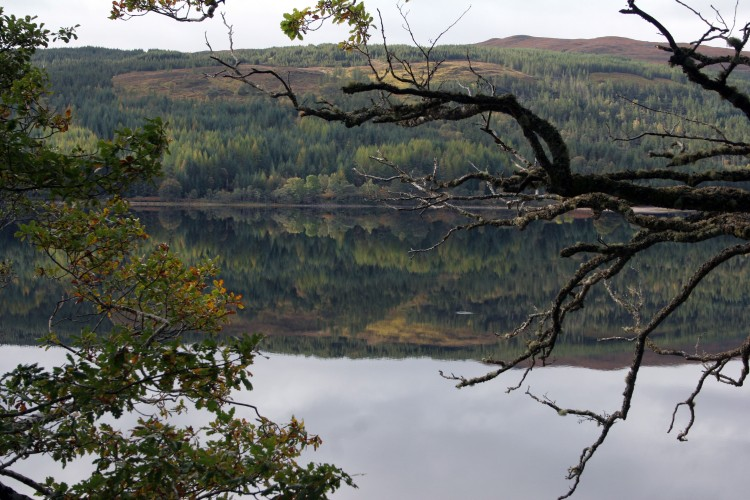 Scotland also has many Lochs this is Loch Arcaig, It's pretty still on this particular day, like a mill pond