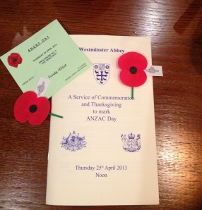 ANZAC Day at Westminster Abbey