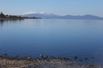 Volcanoes across Lake Taupo