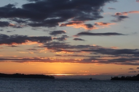 Sunrise over Kawau Bay November 2013