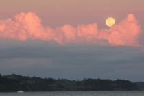 Incredible moon and clouds Kawau Bay, 8:45pm December 2013
