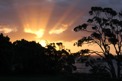 Sunset from Army Bay, Whangaparaoa. 7.45pm March 2014