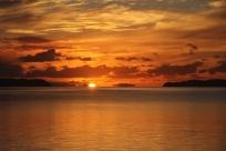 Sun peeking through, May 2014, Kawau Bay
