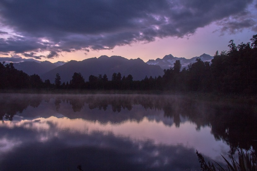 Lake Matheson purple